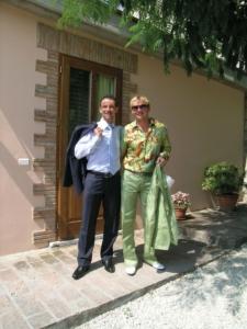 Samuele con il fratello Bruno