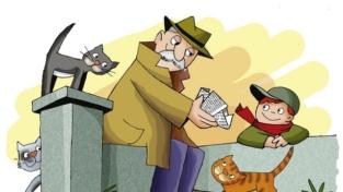 Il nonno e i gatti