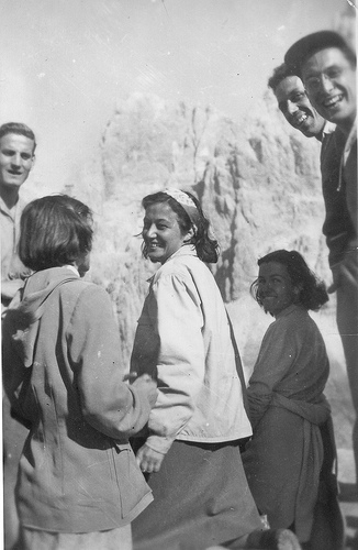 Chiara Lubich in montagna