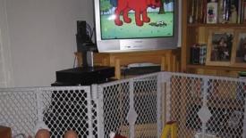 La tv di sottofondo