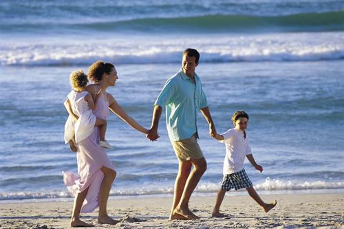 Una famiglia al mare