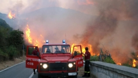 Incendi, solidarietà da Nord a Sud
