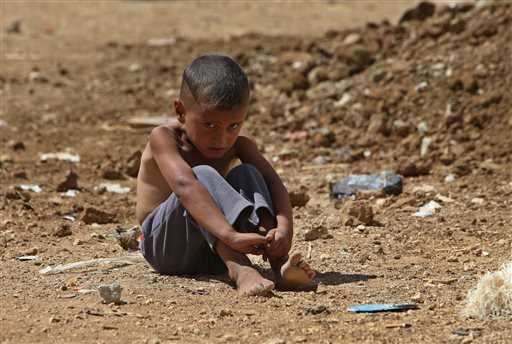 Bambino siriano rifugiato in Libano