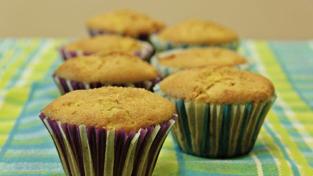Muffin alle mele e tè verde