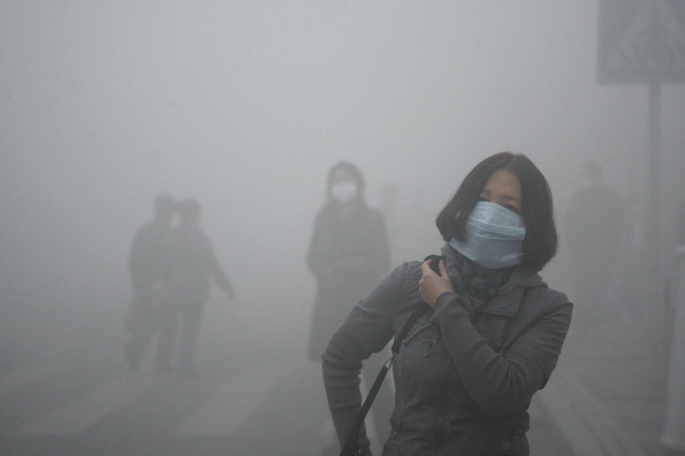 Allarme smog ad Harbin in Cina