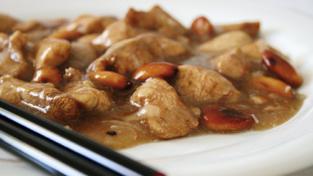 Pollo alle mandorle al profumo di zenzero