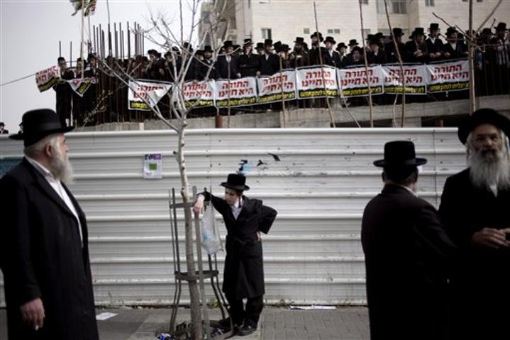Proteste contro la leva obbligatoria per gli ebrei ortodossi