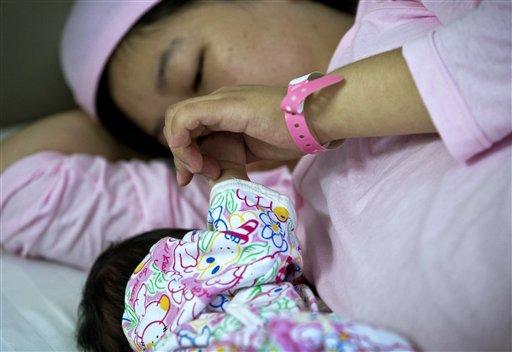 Una mamma col bambino