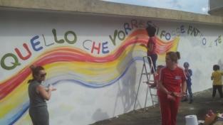 """Locride, la """"Regola d'oro"""" impressa su un murales"""