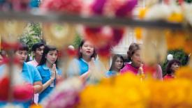 In Thailandia preghiere per il re