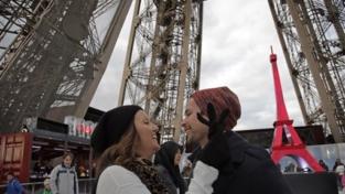 Una proposta di matrimonio sul ghiaccio