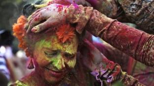 La festa dei colori in India
