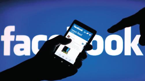 Uno smartphone con Facebook
