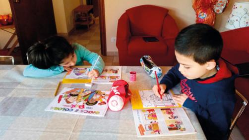 Bambini che giocano con BIg