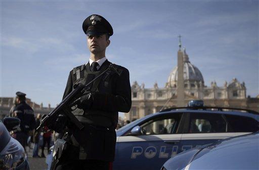 Roma. Controlli di polizia nei principali siti del giubileo