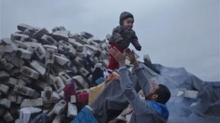 Essere papà in un campo profughi