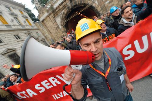 Manifestazione di lavoratori
