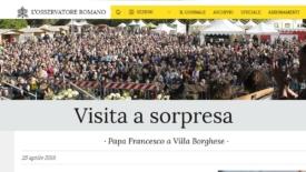 Maria Voce: il primo papa in Mariapoli