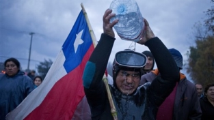 Le proteste dei pescatori in Cile