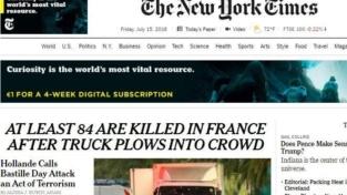 Nizza, l'orrore dell'attentato rimbalza sui media di tutto il mondo
