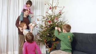 Famiglie Un Natale sobrio