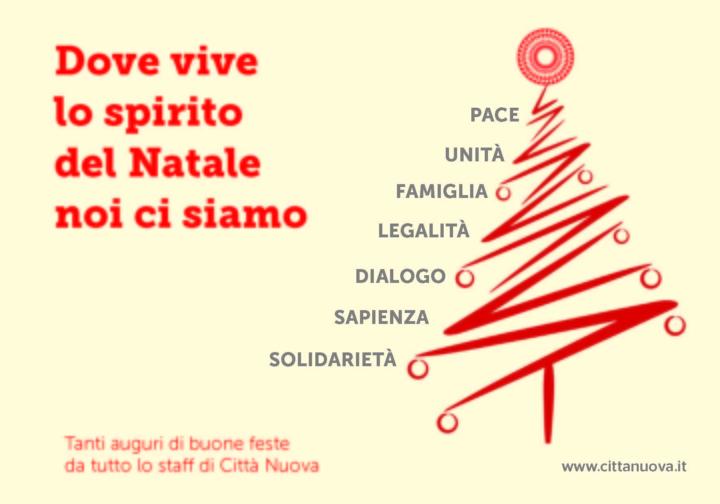 Auguri Di Natale Per La Famiglia.Il Biglietto Di Natale Citta Nuova Citta Nuova