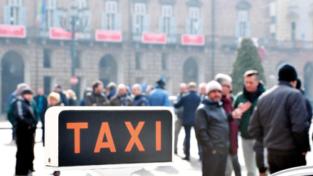 Taxi in protesta