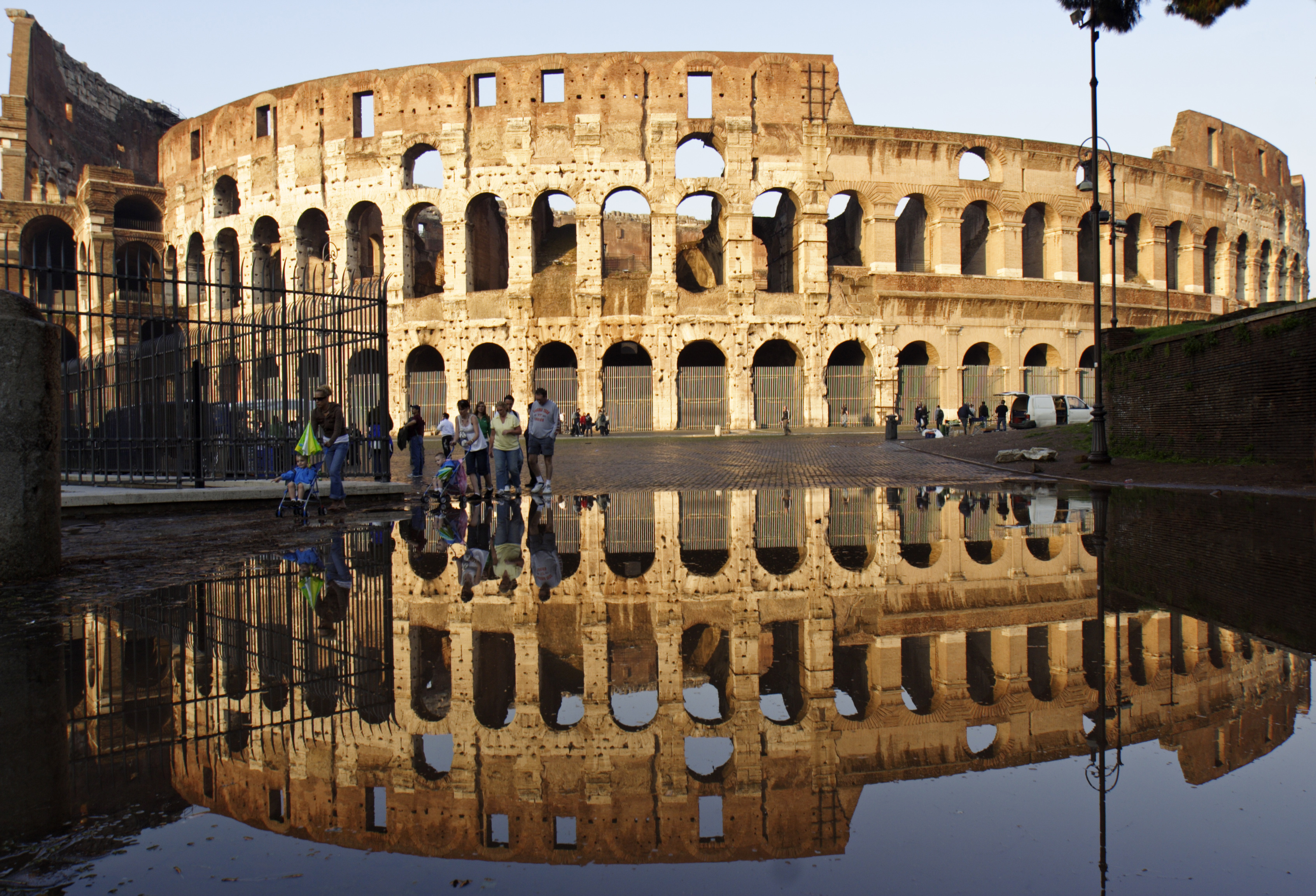 Impressions of Rome - Coloseum reflected after rain