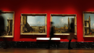 Canaletto nella Galleria della Regina