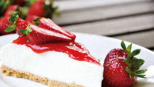 Torta con crema di yogurt