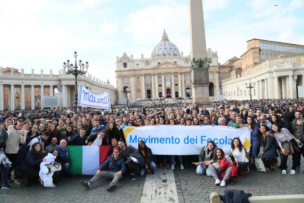 Il Movimento dei Focolari in piazza San Pietro