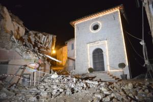 Castelsantangelo sul Nera dopo il terremoto