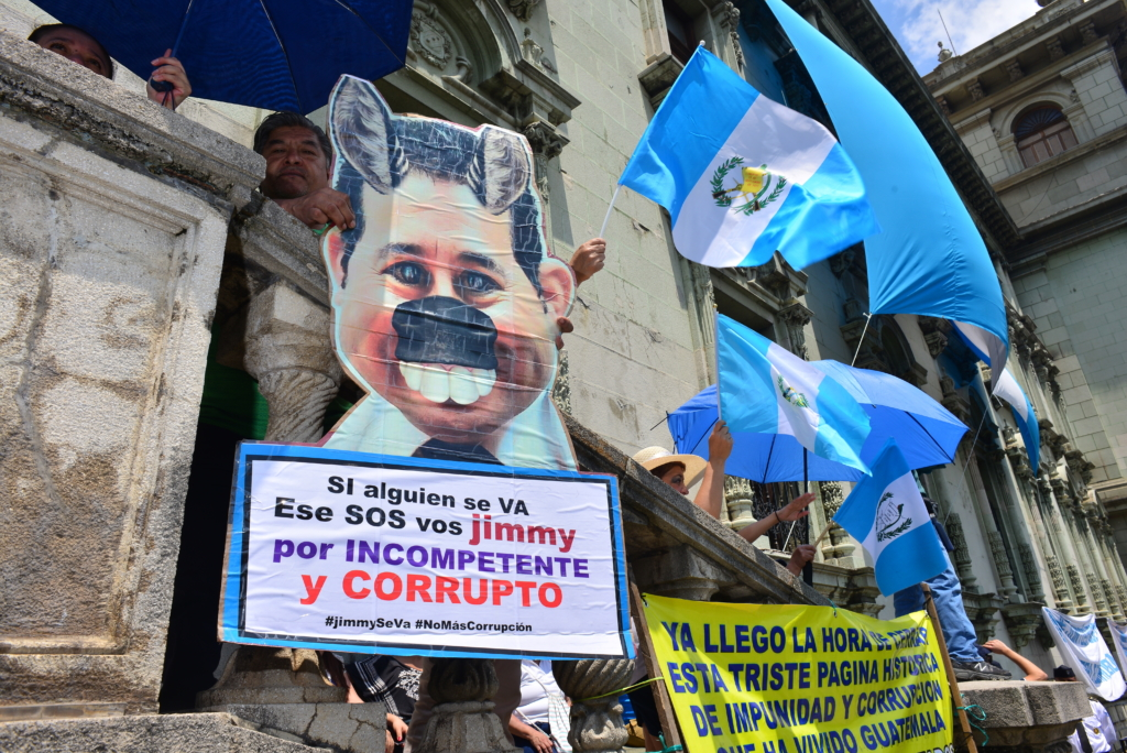 Protest against Guatemala's President Morales