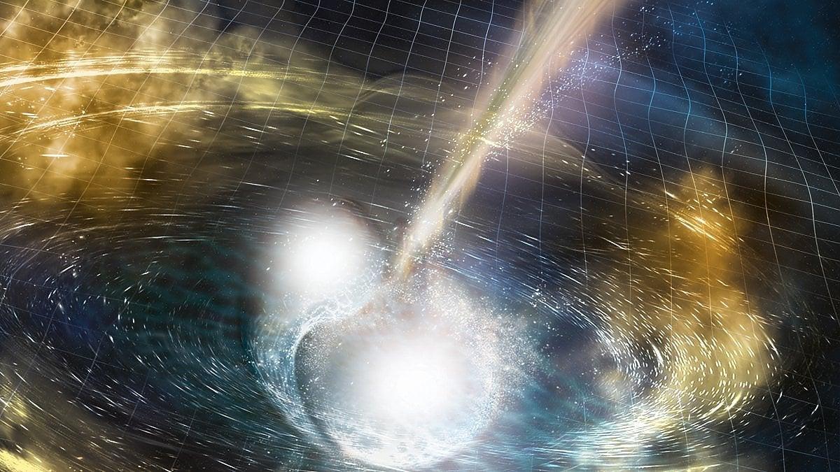 fusione di due stelle di neutroni
