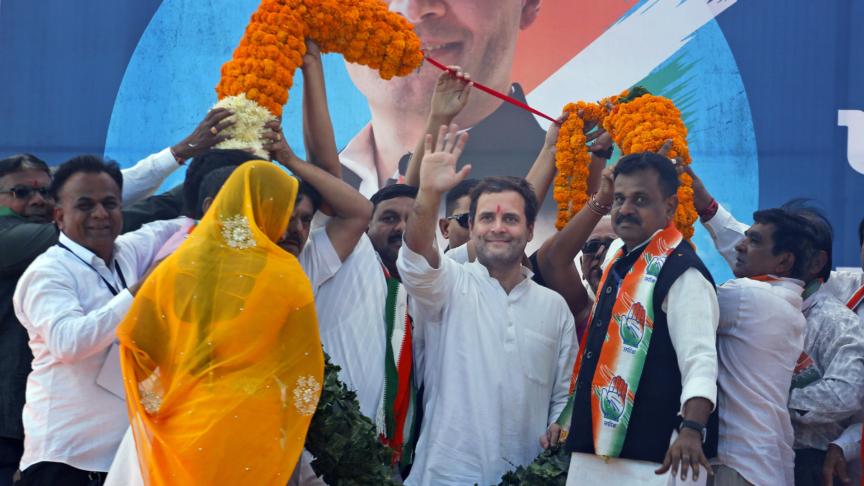 Rahul Gandhi presidente del Partito del Congresso