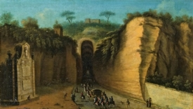 Ai piedi della grotta