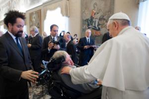 Stephen Hawking con il papa