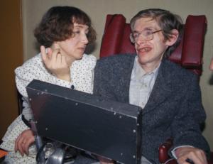 Stephen Hawking con la prima moglie Jane