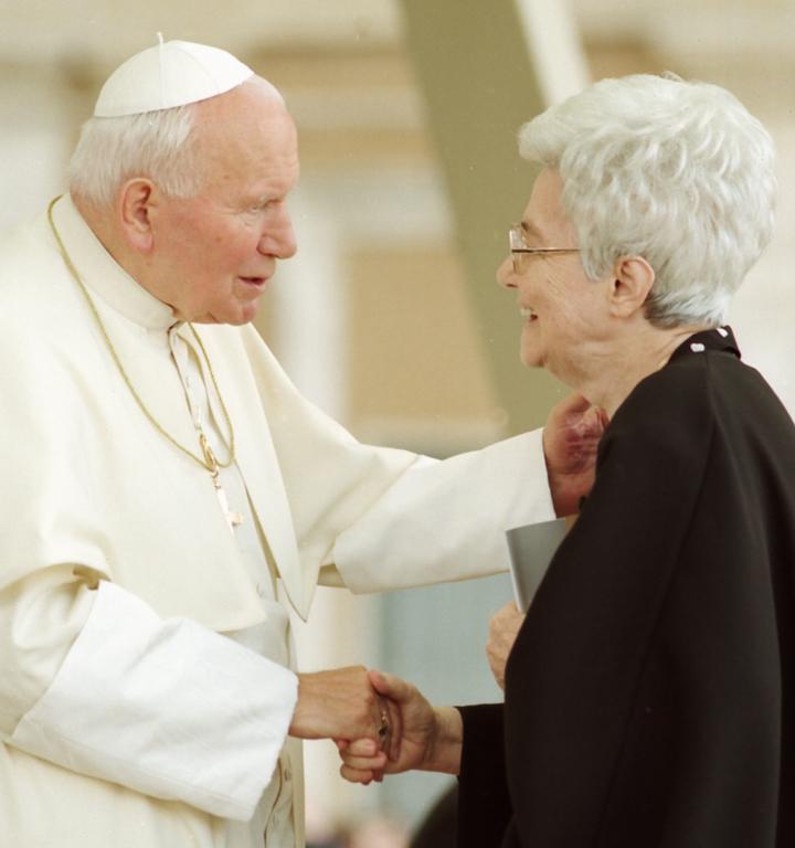 Giovanni Paolo II e Chiara Lubich