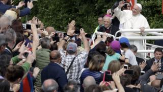 Il papa visita Loppiano