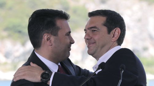 Alexis Tsipras e Zoran Zaev