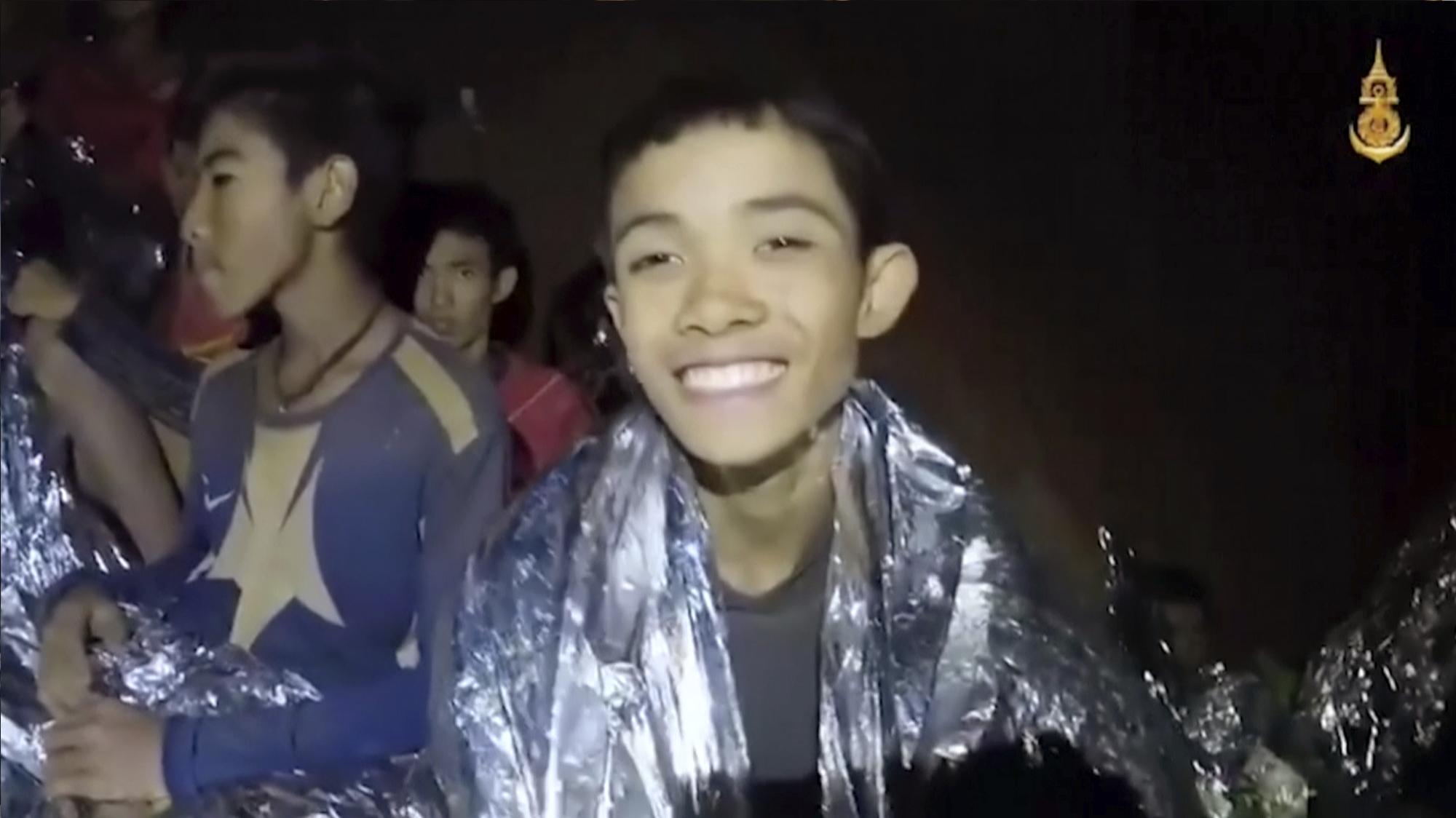Uno dei ragazzi nella cava di Chiang Rai (Thailand)