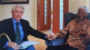 Mandela con Massimo Toschi