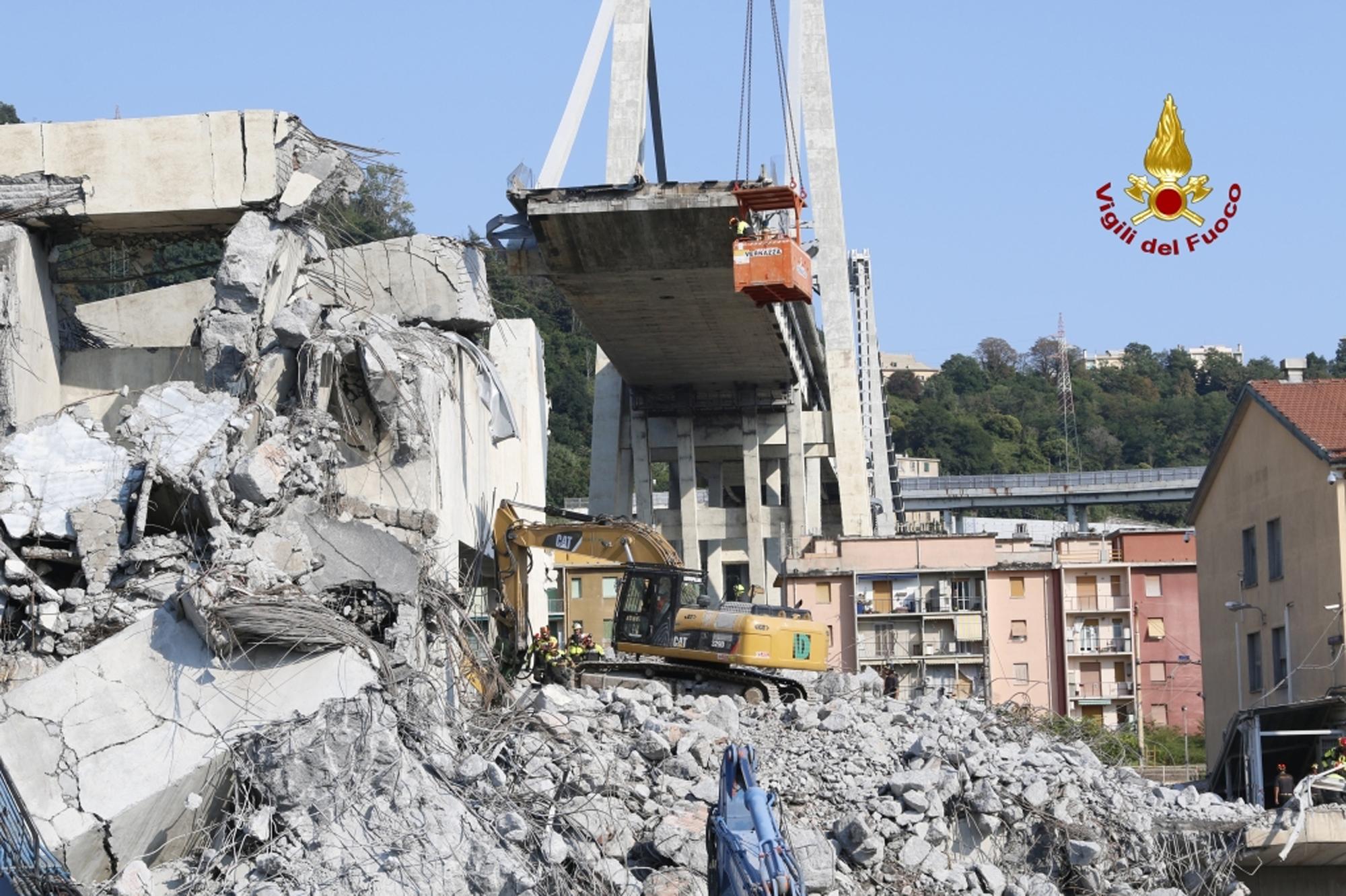 Genova: il ponte crollato
