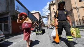 Genova: il dramma degli sfollati