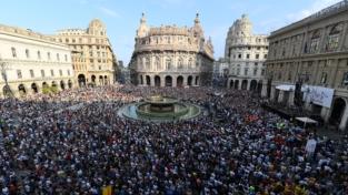 Genova ricorda le vittime del ponte Morandi