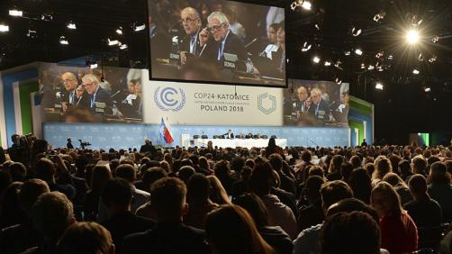 Participants attend the COP24 U.N. Climate Change Conference 2018 in Katowice, Poland, Thursday, Dec. 13, 2018. (AP Photo/Czarek Sokolowski)