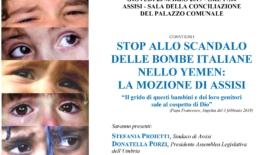 Assisi. Stop bombe italiane nello Yemen