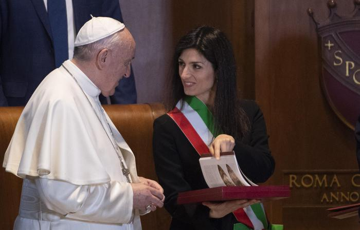Pope Francis visits Campidoglio