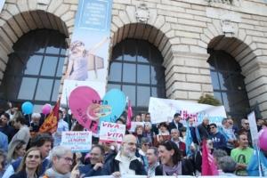 Il corteo finale del Congresso delle Famiglie di Verona, 31 marzo 2019